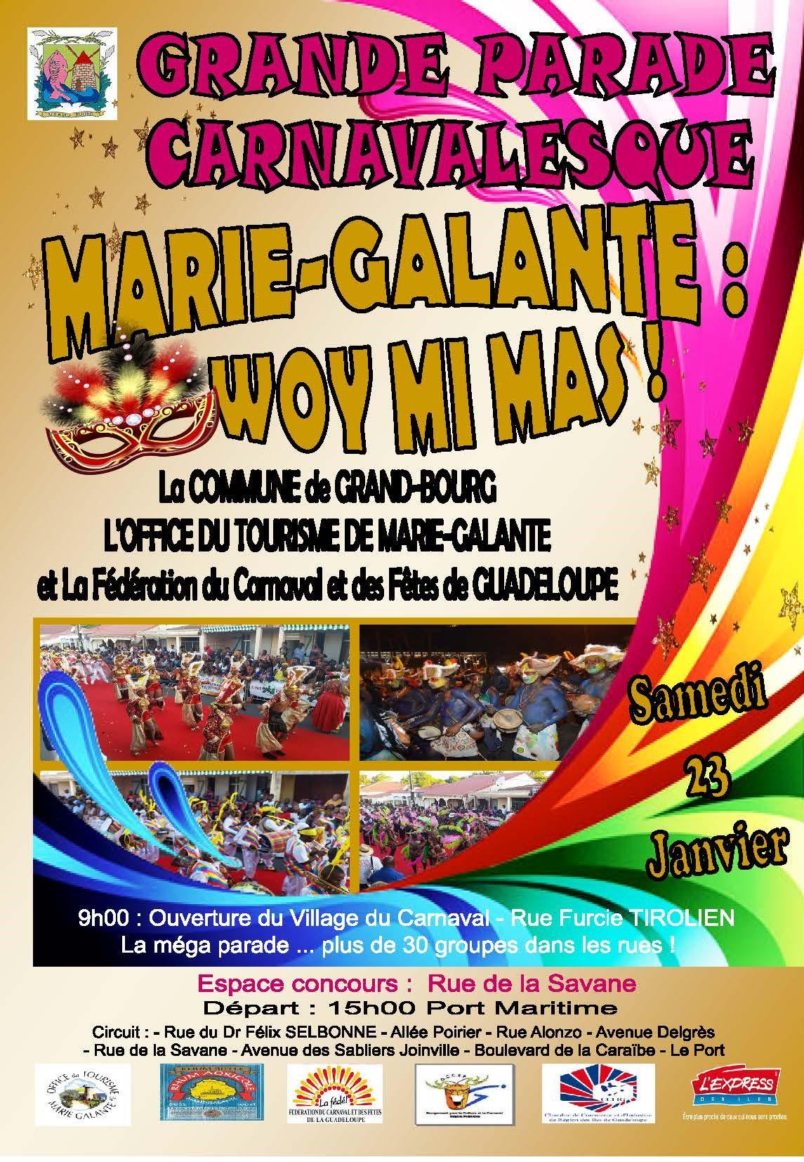 Les rendez vous du 23 au 24 janvier 2016 le carnaval de - Office tourisme marie galante ...