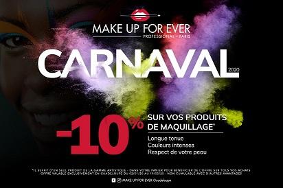 Obtenez 10% de réduction dans vos boutiques Make Up For Ever